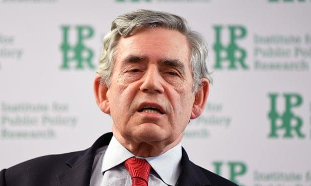 Gordon Brown calls for global government to tackle coronavirus
